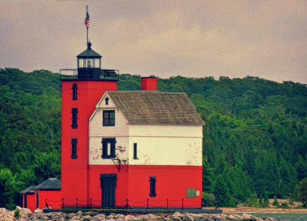 Wall Art - Photograph - Red Lighthouse Hdr by Tony Grider