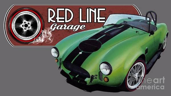 Ac Cobra Wall Art - Digital Art - Red Line Cobra by Paul Kuras