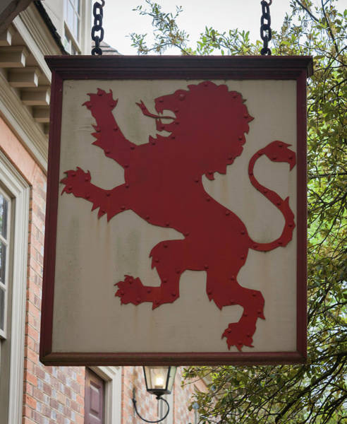 Wall Art - Photograph - Red Lion Inn Sign by Teresa Mucha