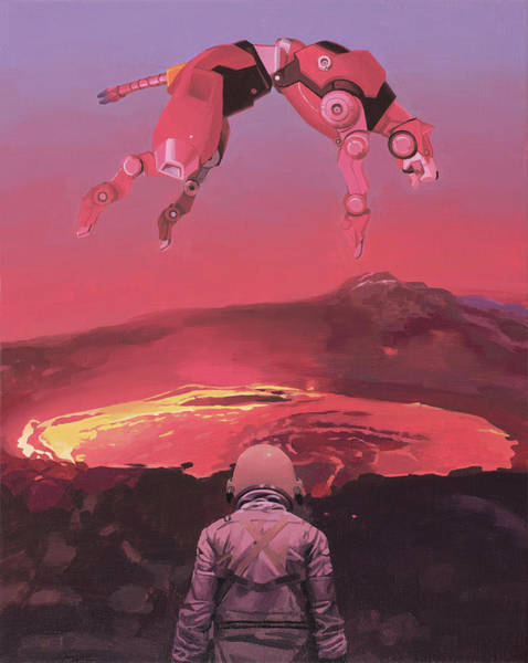 Science-fiction Wall Art - Painting - Red Lion by Scott Listfield