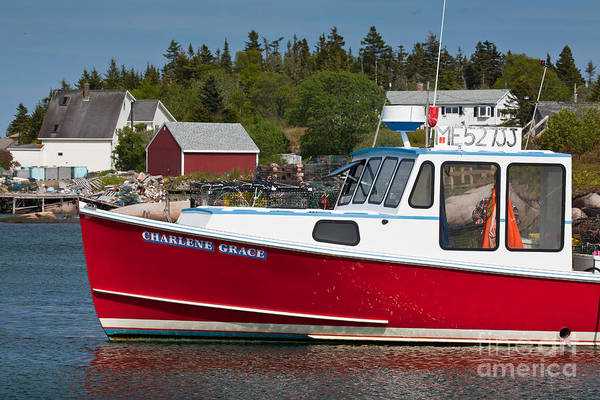 Photograph - Red Lobster Boat by Susan Cole Kelly