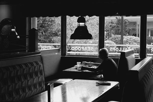 Photograph - Solitary Afternoon Figure In Red Lobster by Polly Castor