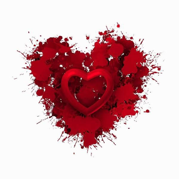 Digital Art - Red Love 1 by Alberto RuiZ