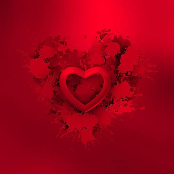 Digital Art - Red Love 2 by Alberto RuiZ