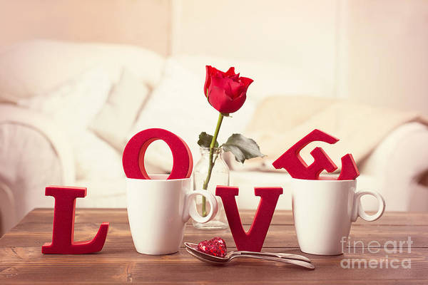 Wall Art - Photograph - Red Love Letters For Valentines Day by Amanda Elwell