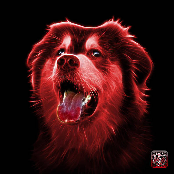 Painting - Red Malamute Dog Art - 6536 - Bb by James Ahn