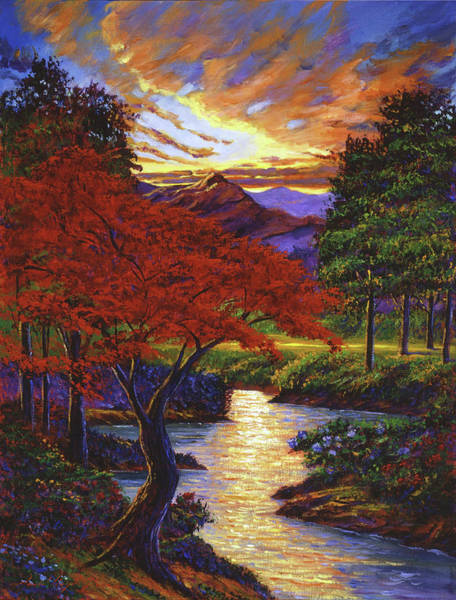 Painting - Red Maple by David Lloyd Glover