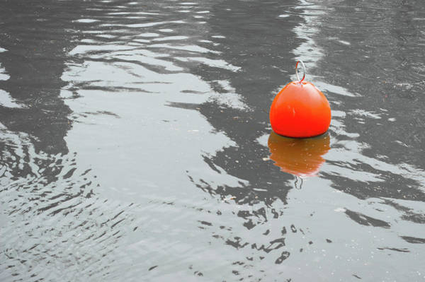 Photograph - Red Marker Bouy by Helen Northcott