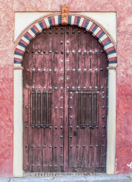 Photograph - Red Medieval Wood Door by David Letts