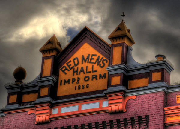 Photograph - Red Mens Hall by Louis Dallara
