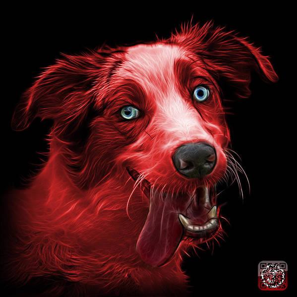 Painting - Red Merle Australian Shepherd - 2136 - Bb by James Ahn
