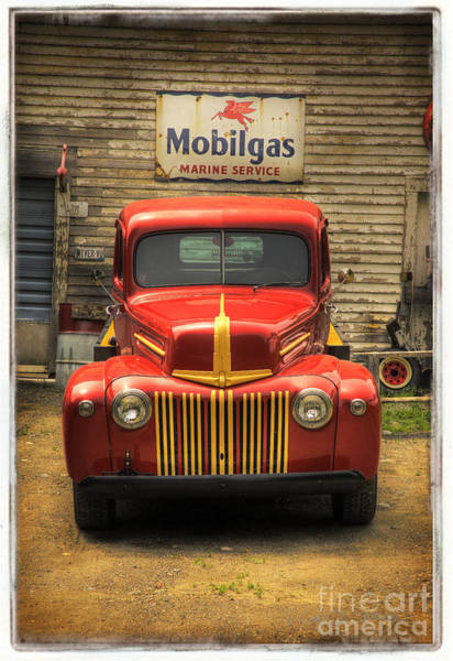 Photograph - Red Mobilgas Truck by Craig J Satterlee