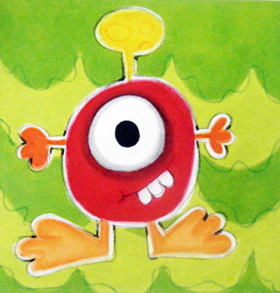 Morea Wall Art - Painting - rED mONSTER by Mara Morea