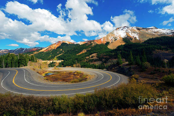 Wall Art - Photograph - Red Mountain Hairpin by Mike Dawson