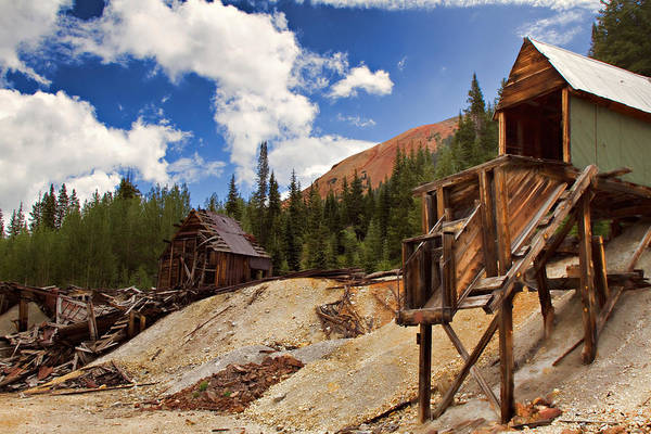 Lead Mine Wall Art - Photograph - Red Mountain Mining - The Loader by Lana Trussell
