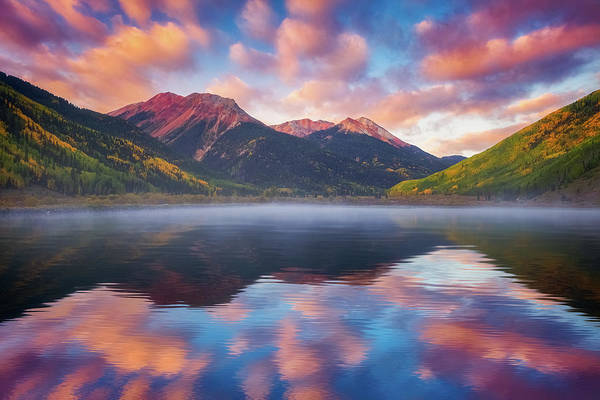 Photograph - Red Mountain Reflection by Darren White
