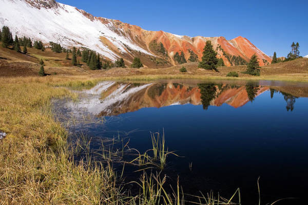Photograph - Red Mountain Reflection by Steve Stuller