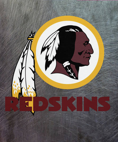 Mixed Media - Washington Redskins On An Abraded Steel Texture by Movie Poster Prints
