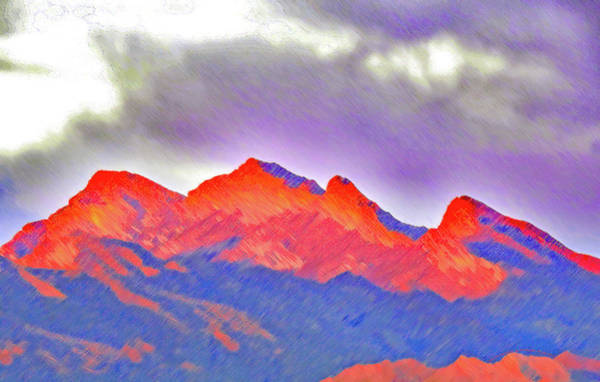 Photograph - Red Mt Rainbow by Carl Deaville