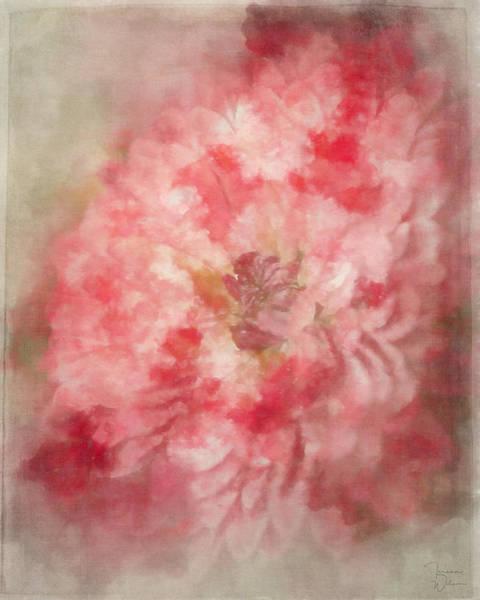 Mixed Media - Red Mum Abstract by Teresa Wilson