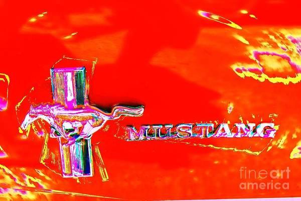 Photograph - Red Mustang Mod by Jenny Revitz Soper