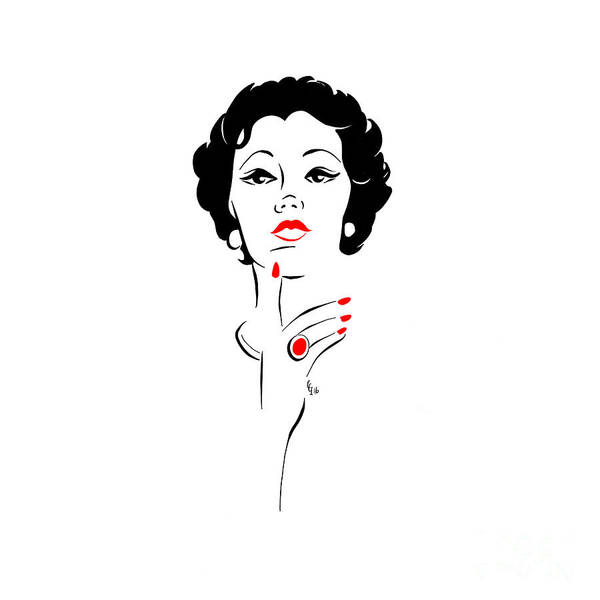 Wall Art - Digital Art - Red Nails Red Lips by Cindy Garber Iverson