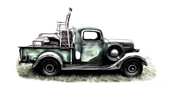 Rural Digital Art - Red Neck Moving Day by Edward Fielding