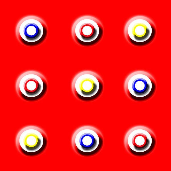 Red Nine Squared Art Print