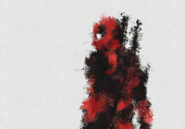 Anti Wall Art - Painting - Red Ninja by Miranda Sether