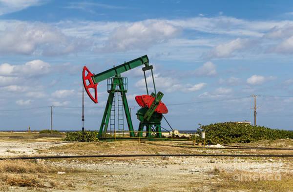 Photograph - Red Oil Pump Jack  by Les Palenik