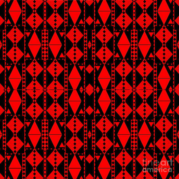 Digital Art - Red On Black by Helena Tiainen