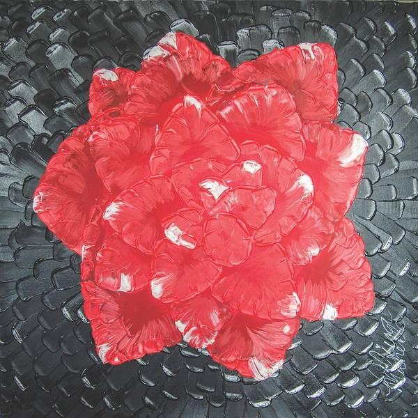 Painting - Red Onyx Rose by Aliya Michelle