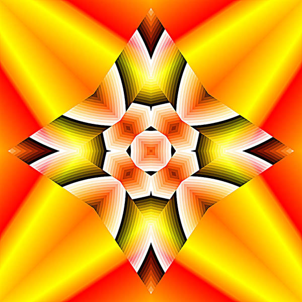 Digital Art - Red Orange And Yellow Abstract 01 by Ruth Moratz