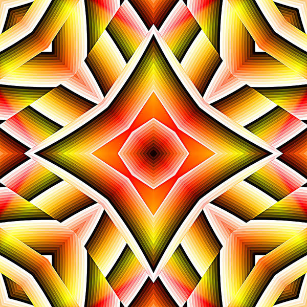 Digital Art - Red Orange And Yellow Abstract 02 by Ruth Moratz