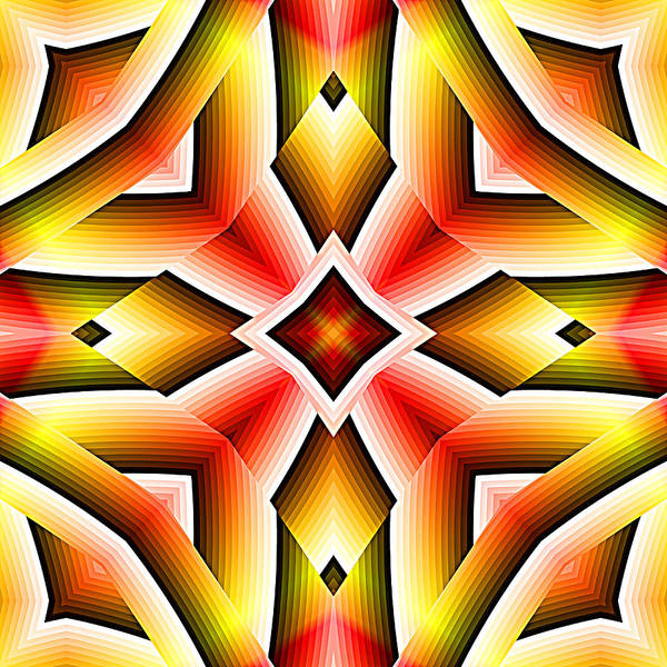 Digital Art - Red Orange And Yellow Abstract 03 by Ruth Moratz