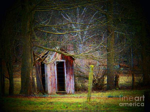 Allegheny Mountains Wall Art - Photograph - Red Outhouse by Joyce Kimble Smith
