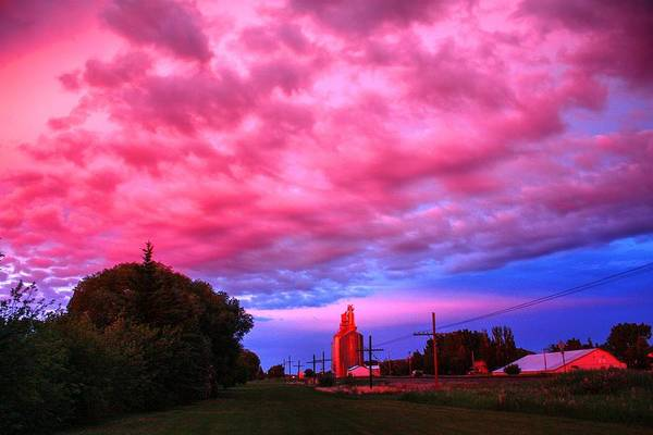 Photograph - Red Over Sky Elevator by David Matthews