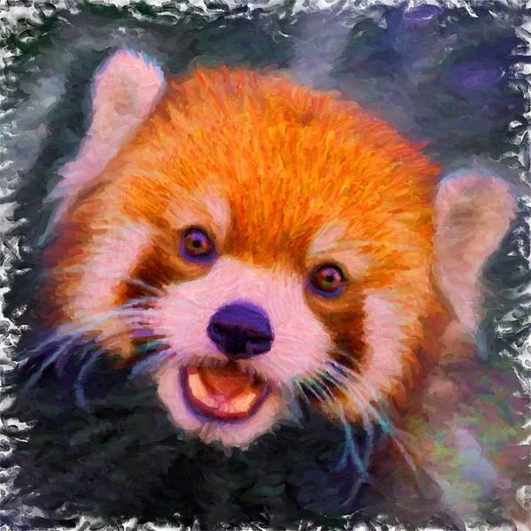 Digital Art - Red Panda Cub by Caito Junqueira