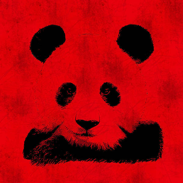 Negative Space Digital Art - Red Panda by Laura Brightwood