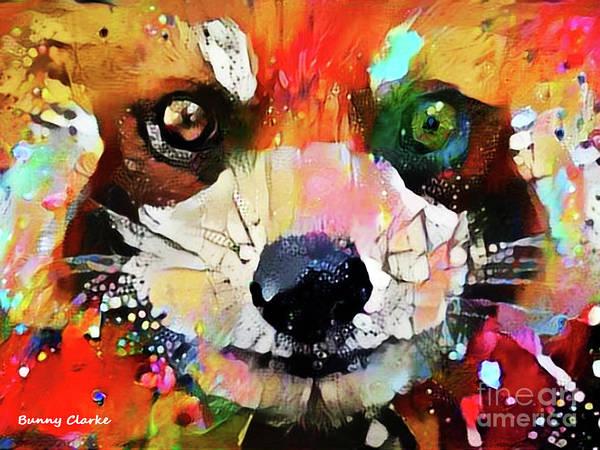 Wall Art - Digital Art - Red Panda Smiles by Bunny Clarke