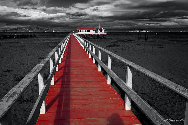 Photograph - Red Pier by Alexander Fedin