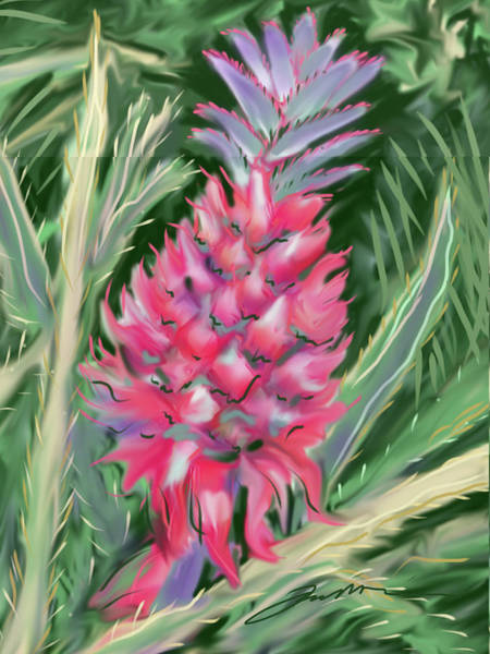 Painting - Red Pineapple by Jean Pacheco Ravinski