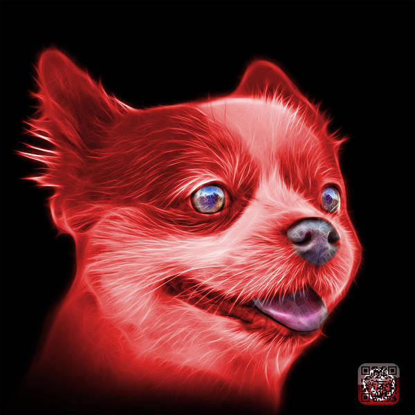 Painting - Red Pomeranian Dog Art 4584 - Bb by James Ahn