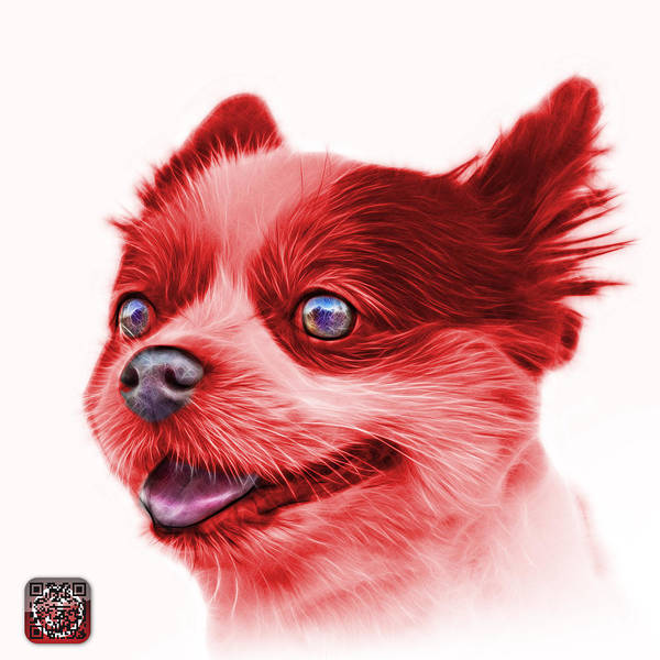 Painting - Red Pomeranian Dog Art 4584 - Wb by James Ahn