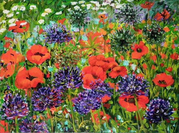 Painting - Red Poppies by Ingrid Dohm