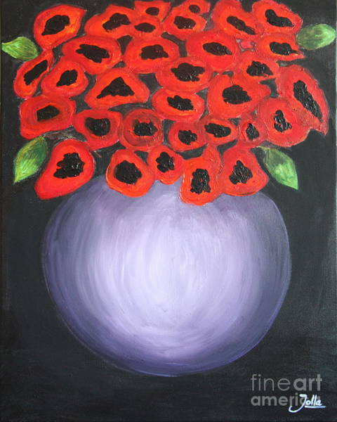 Painting - Red Poppies  by Jolanta Anna Karolska