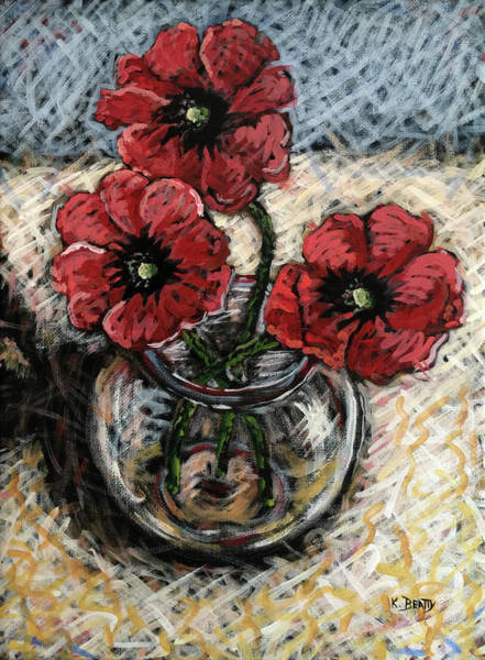 Scumble Wall Art - Painting - Red Poppies by Karla Beatty