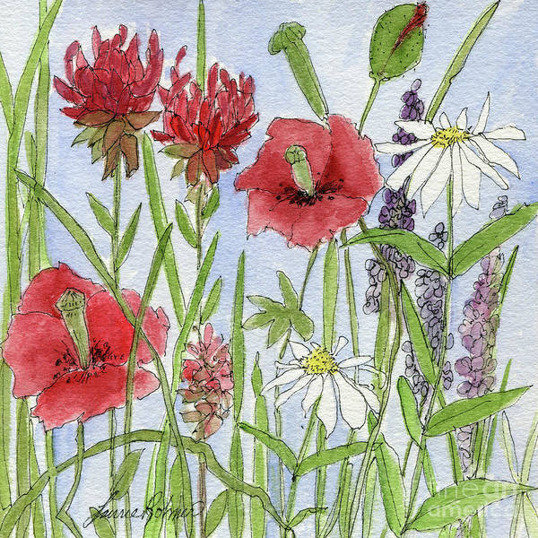 Painting - Red Poppies by Laurie Rohner