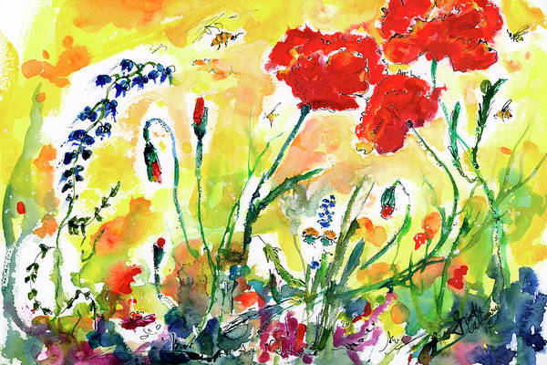 Painting - Red Poppies Provence 2017 by Ginette Callaway