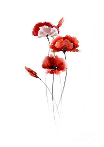 Red Poppy Mixed Media - Red Poppy Fine Art Print by Joanna Szmerdt